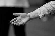 Close-up Of Woman Hand Outdoors