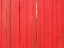 Full Frame Shot Of Red Wooden Fence