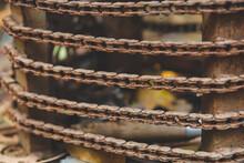 Old Rusty Vintage Bike Chain