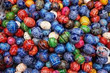 Full Frame Shot Of Multi Colored Easter Eggs