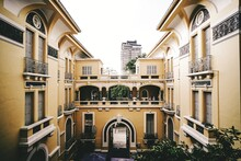 Facade Of Historic Building In City