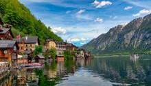 Scenic View Of Lake From Hallstatt