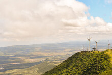 Wind Turbines And Views From Ngong Hills.