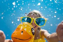 Spring Break! Happy Child Having Fun On Summer Vacation