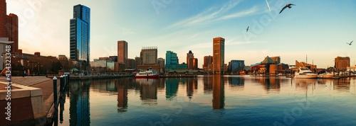Canvastavla Baltimore inner harbor