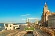 Liverpool city center cityscape