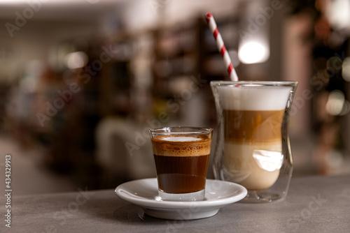 Fotografiet Delicious hot coffee drink