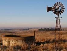 Windpump On The Highveld On Sa