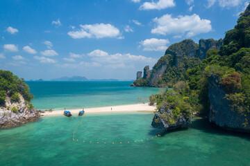 Ko Phakbia (Ko Phak Bia or Phak Bia Island), Famous place snorkel, Andaman sea, Krabi, phuket, Travel in your dream Thailand, Beautiful destination place Asia, Summer holiday outdoor vacation trip.