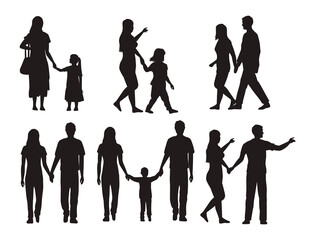 thirteen family silhouettes