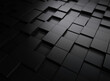 Abstract black blocks or cubes background. 3d Rendering.