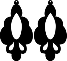 Earrings Eps Vector Cutfile For Cricut And Dilhouette