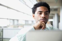 Businessman Looking At Computer Screen
