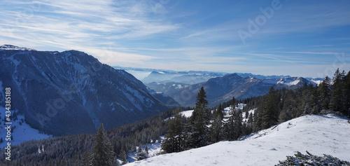 Winterwanderung zur Scheibenwand #434385188