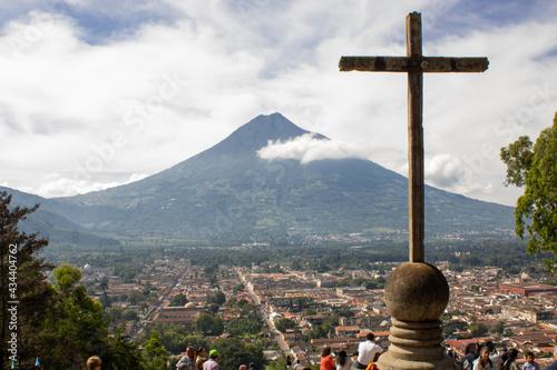 Canvas Print Monte la Cruz Guatemala