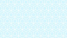 Seamless White Geometric Pattern On A Pale Blue Background