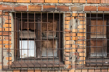 Rusty Bars On Old Windows, Abandoned Building, Urban Decay