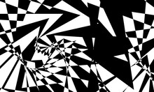 Mystical Background With Prevailing Black Patterns On White Optical Illusion Creative Wallpaper
