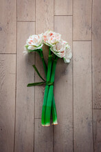 High Angle View Of  Bouquet On The Floor