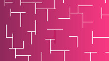 Maze, Abstract Maze On Pink Background, Maze With Dead Ends For Mice, Find A Way Out