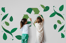 Recycle Nature World Icon Grapphic