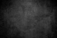 Rough Black Wall Slate Texture Rough Background, Dark Concrete Floor Or Old Grunge Background