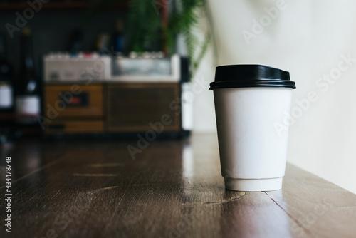 Billede på lærred Mockup of a disposable cup of coffee