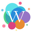 Graphic logo illustration letter W