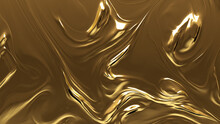 Liquid, Opulent, Gold Texture. A Golden Surface For Glistening, Luxurious Backgrounds.