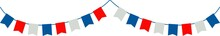 Flag Garland Icon. Independence Day Of USA Flat Vector Icon.