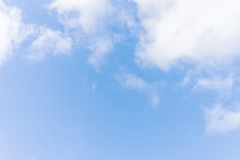 Blue Sky With Small Clouds. Sky Background Texture. Summer Sky