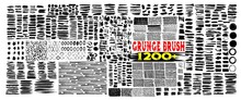 Grunge Brush Strokes. 1200 Brush Strokes Bundle. Rectangle, Square And Round Freehand Drawings. Ink Splatters, Grungy Painted Lines, Artistic Design Elements: Circle, Triangles. Vector Paintbrush Set.