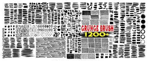 Cuadros en Lienzo Grunge brush strokes