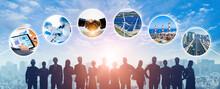 様々な分野の産業と人材イメージ サステナブルな社会