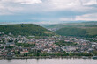 View of the city of Bingen on the Rhine, Germany, the starting point of the Rhine Valley, a UN World Heritage Site