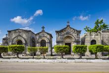 Chapels Of The Colon Cemetery, Havana, Cuba