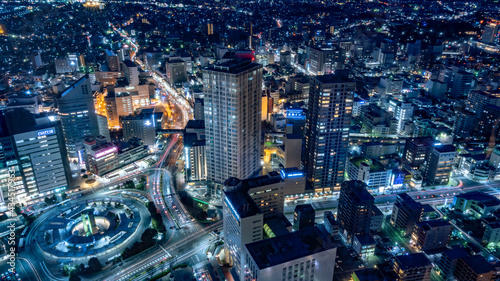 Tableau sur Toile 静岡県浜松市の夜景