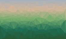 Creative Prismatic Background With Polygonal Green Pattern