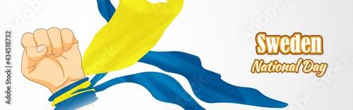 Fotografia vector illustration  for Sweden national day