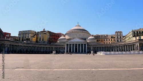 Fotografia, Obraz Piazza Plebiscito that means plebiscite Square in Naples in Italy with few peopl