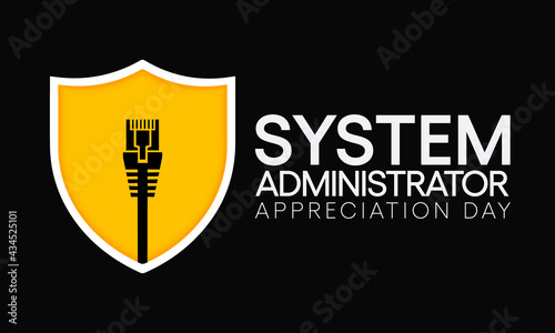 Foto System administrator appreciation day is observed every year in July, sysadmin is a person who is responsible for the upkeep, configuration, and reliable operation of computer systems