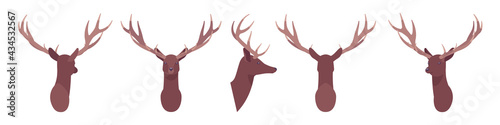 Obraz na plátně Animal mask male deer head, faux taxidermy gallery wall mount decor