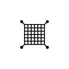 Safety Net Icon In Vector. Logotype