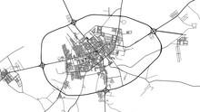 Urban Vector City Map Of Ar Rass, Saudi Arabia, Middle East