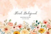 Watercolor Flower Garden Background