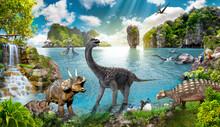 Dinosaur Of Wild Animals In The Wild