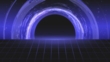 Cybersport Background. Abstract Modern Vector Bright Darkblue Banner Template. Futuristic Abstract Colorful Vector Background With Glowing  Neon Lines.