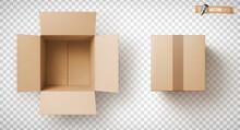 Boîtes En Carton Vectorielles Sur Fond Transparent