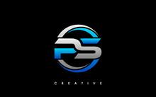 PS Letter Initial Logo Design Template Vector Illustration