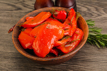 Tasty Marinated Red Bell Pepper